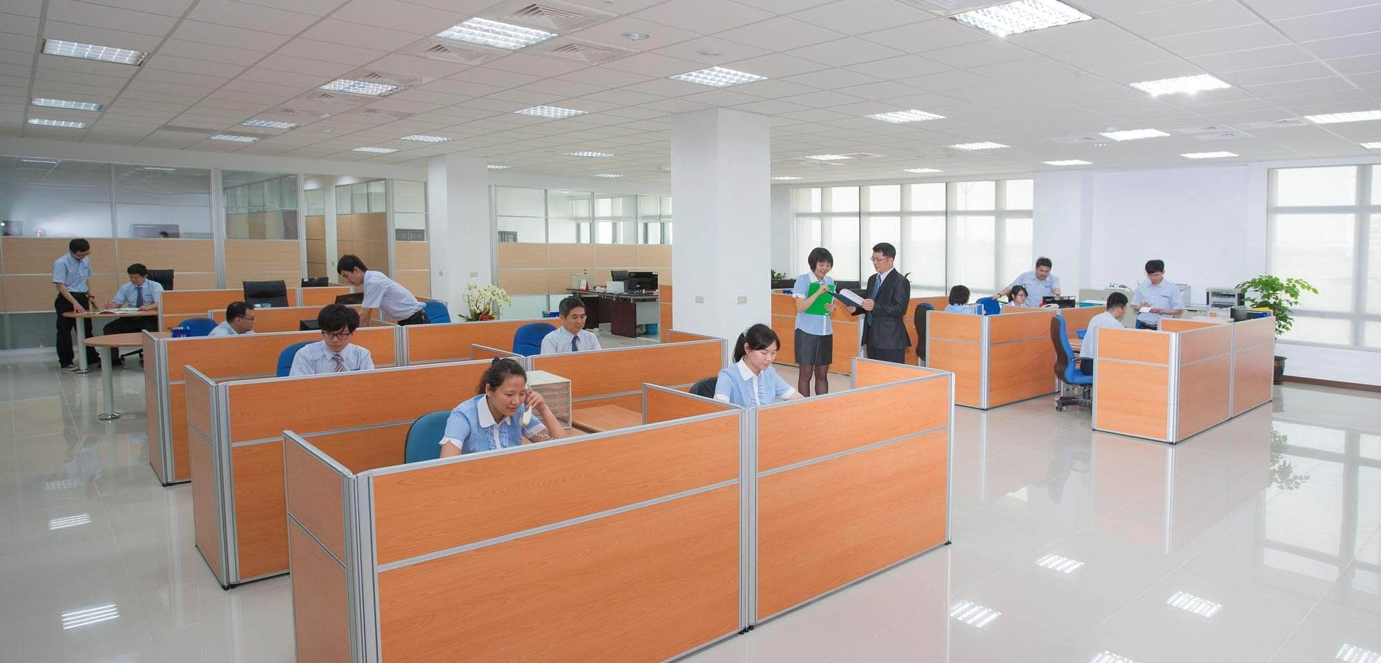 Excetek employees go to work